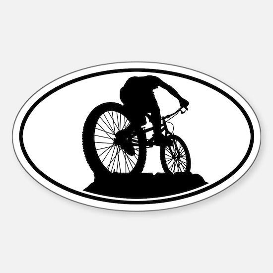 Mountain Biker Oval Decal