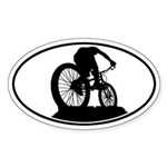 Mountain Biker Oval Sticker