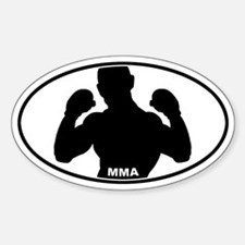 MMA Fighter - Silo Oval Decal