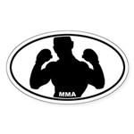 MMA Fighter - Silo Oval Sticker