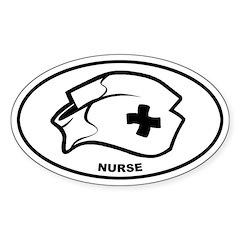 Nurse - Hat Oval Decal