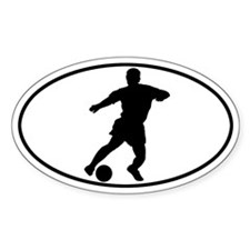 Soccer - Guy Oval Decal