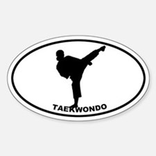 Taekwondo - Girl Oval Decal