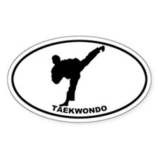 Taekwondo - Guy Oval Decal