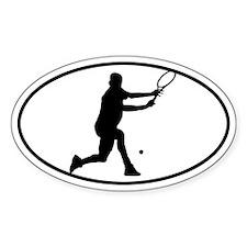 Tennis - Man Oval Decal
