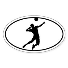 Volleyball - Guy Oval Decal