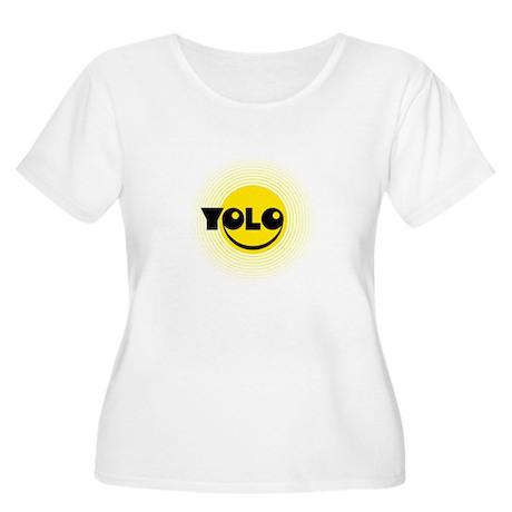 YOLO_B06.png Women's Plus Size Scoop Neck T-Shirt