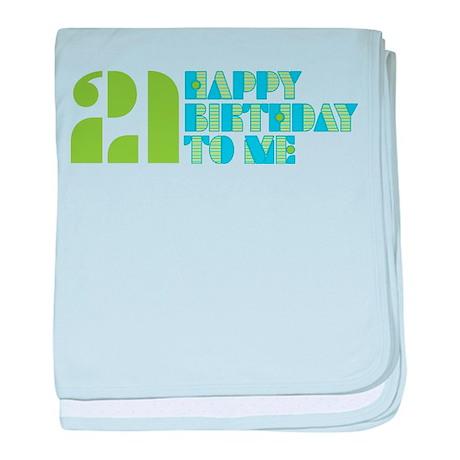 Happy Birthday 21 baby blanket
