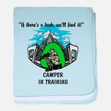 Camper In Training baby blanket