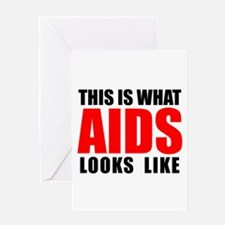 What AIDS looks like Greeting Card