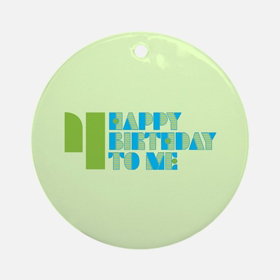 Happy Birthday 4 Ornament (Round)