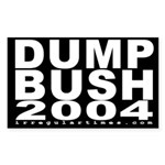Dump Bush 2004 Bike Sticker (5x3)