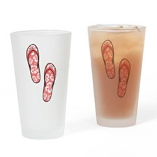 Red Flops Drinking Glass