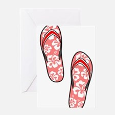 Red Flops Greeting Card