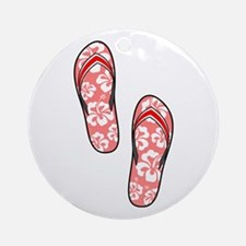 Red Flops Ornament (Round)