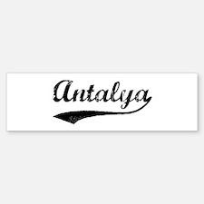 Vintage Antalya Bumper Car Car Sticker