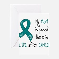 teal mom life.png Greeting Card