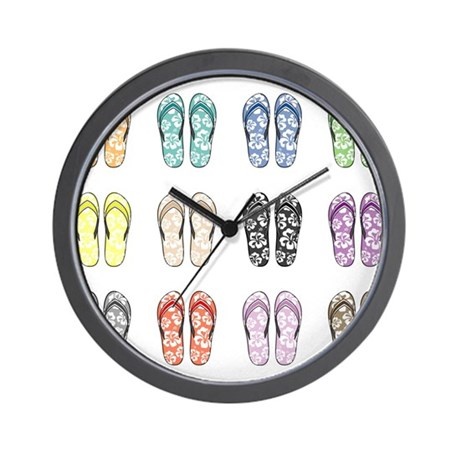 Flippin' Flops Wall Clock