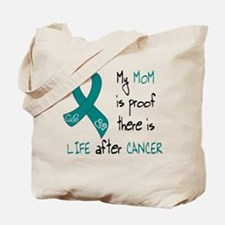 teal mom life.png Tote Bag