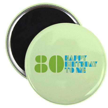 Happy Birthday 80 Magnet