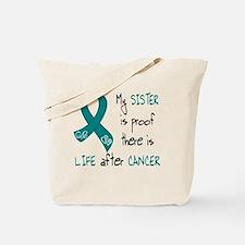 teal sister life.png Tote Bag