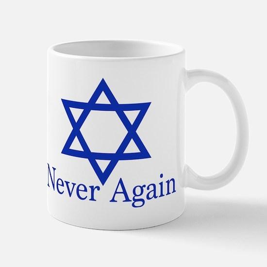 Never Again Jewish Mug