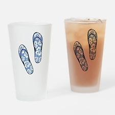 Blue Flops Drinking Glass