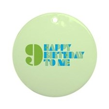 Happy Birthday 9 Ornament (Round)
