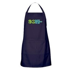 Happy Birthday 93 Apron (dark)
