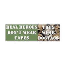 """Real Heroes"" Car Magnet 10 x 3"