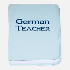 German Teacher baby blanket