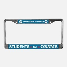 Students for Obama License Plate Frame