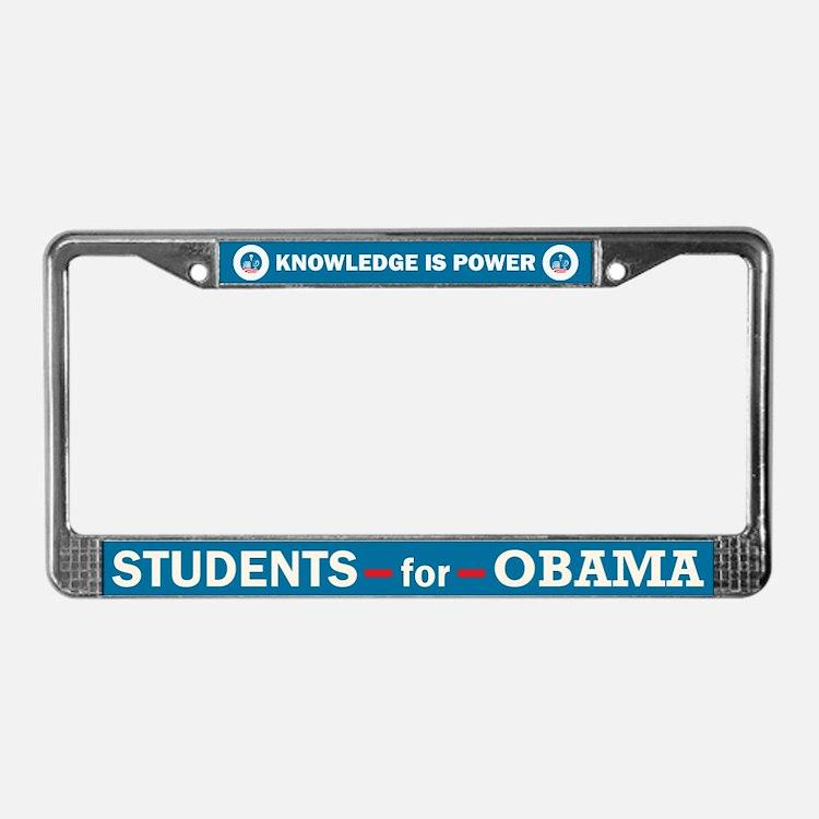 Students for Obama License Plate Frame
