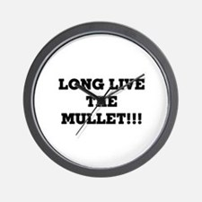 Long Live the Mullet!!! Wall Clock