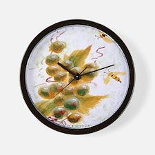 """A Grape Buzz"" Wall Clock"