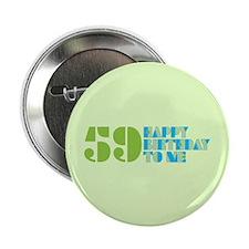 "Happy Birthday 59 2.25"" Button (100 pack)"