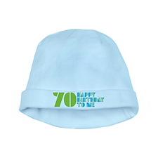 Happy Birthday 70 baby hat