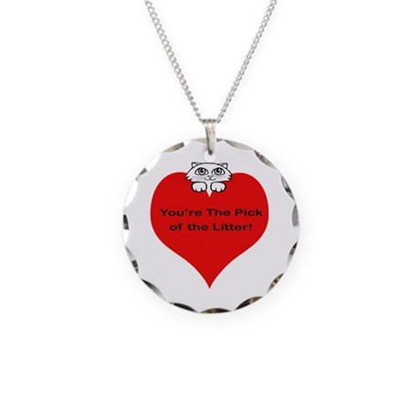 Pick Of The Litter Necklace Circle Charm