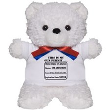 This Is My Gun Permit Teddy Bear