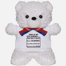 This Is My Gun Permit Teddy Bear
