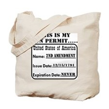 This Is My Gun Permit Tote Bag