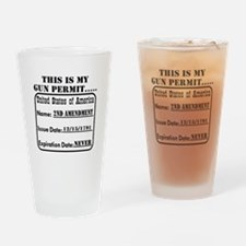 This Is My Gun Permit Drinking Glass
