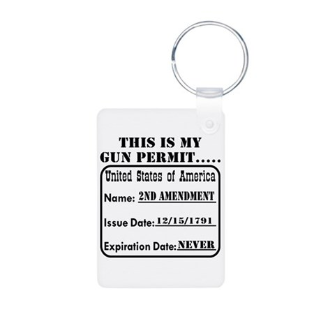 This Is My Gun Permit Aluminum Photo Keychain