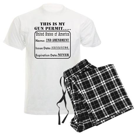 This Is My Gun Permit Men's Light Pajamas