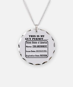 This Is My Gun Permit Necklace Circle Charm