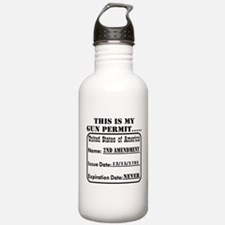 This Is My Gun Permit Water Bottle