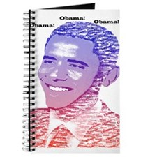 Obama Red White Blue Name Painting Journal