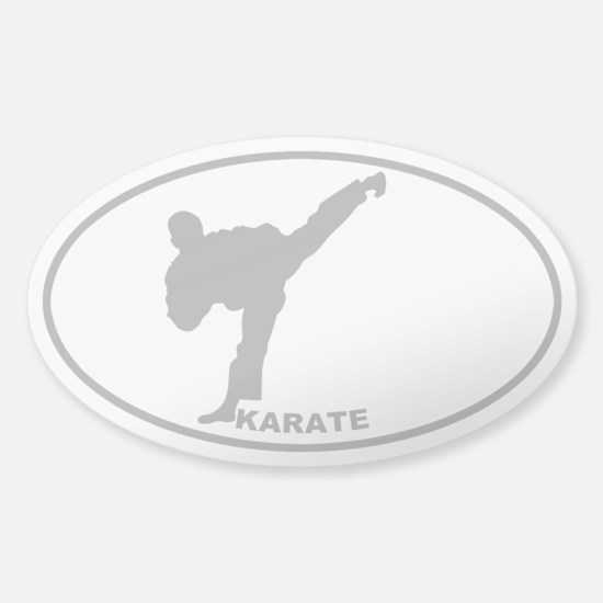 Karate - Man - Gray on Clear