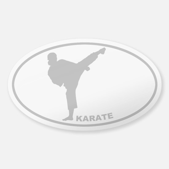 Karate - Woman - Gray on Clear