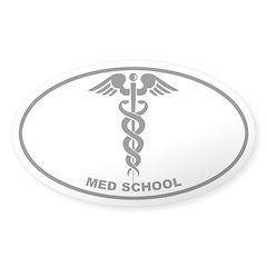 Med School - Cadeuceus - Gray on Clear